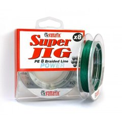 Шнур FANATIK Super Jig PE X8 100 m. (#0.6) 0.12 mm GREEN